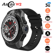 ALLCALL W2 3G Smart Watch Phone 16GB+2GB 2MP Camera 1.39-Inch AMOLED Screen Nano SIM WIFI BT4.0 GPS Watch Sports Smartwatch Men