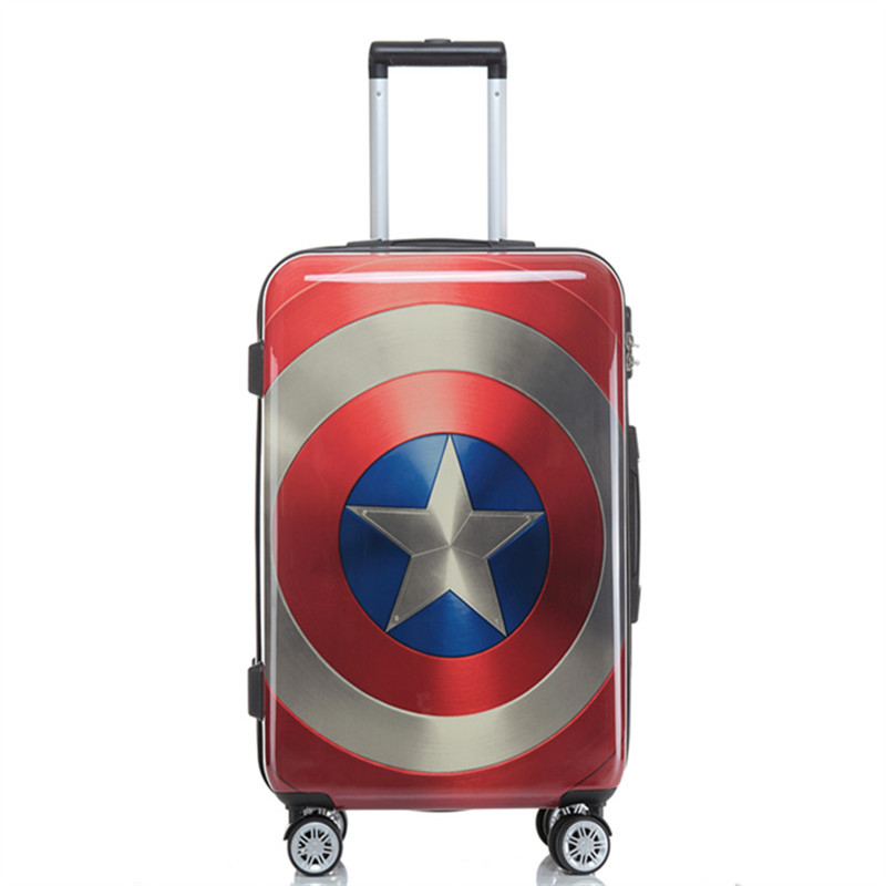 Captain America's suitcase 28inch password pull box for the men's luggage trolley box boarding luggage bag