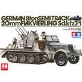 Tamiya escala modelo 1/35 tanque 35050 German 8ton Semitrack 20 mm Flakvierling sd. Kfz7 / 1 assembléia modelo kits modle construção kits