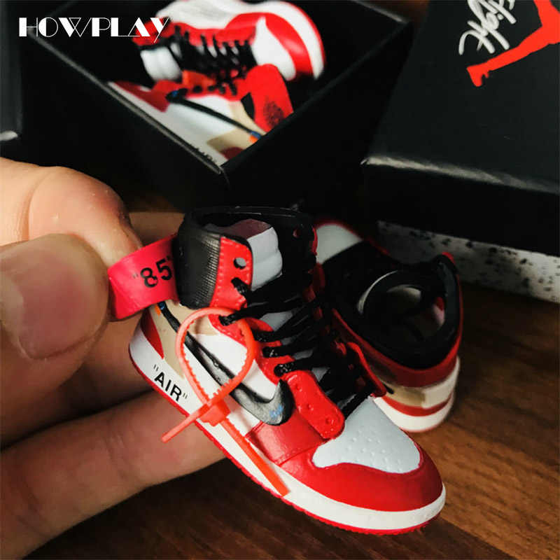 quality design 2b5e0 a002b ... Joint Collection mini Sneakers Model Shoes Creative Gifts for. RELATED  PRODUCTS. Howplay AJ1 OW sneaker keychain 3D jordan backpack pendant  basketball ...