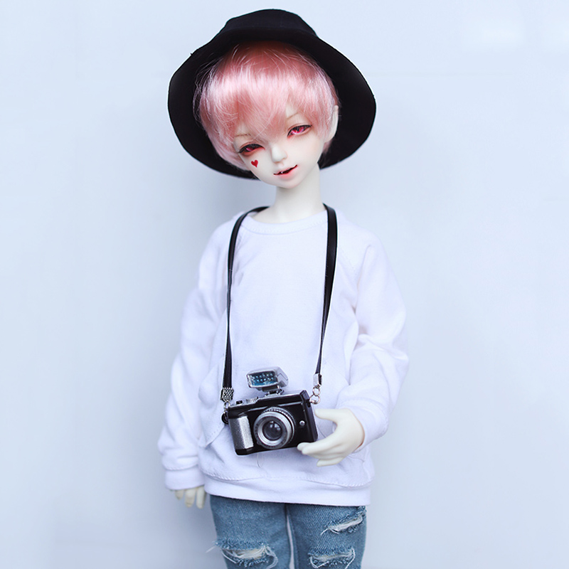Bybrana Simple cross-camera model <font><b>BJD</b></font> 1/3 1/4 <font><b>1/6</b></font> size doll universal Doll <font><b>clothes</b></font> with accessories Photo props Strap camera image