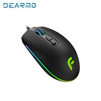 Original DEARMO E Sports Version PMW3325 with 7 Buttons Programmable Game Mouse 6000 DPI Wired Optical Gaming Mice For Pro Gamer