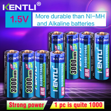 KENTLI 8pcs Stable voltage 3000mWh AA batteries 1.5V rechargeable aa battery lithium polymer for camera ect