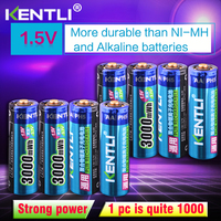 KENTLI 8pcs Stable voltage 3000mWh AA batteries 1.5V rechargeable aa battery lithium polymer battery for camera ect