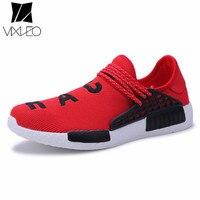VIXLEO Casual Shoes Men Tenis Designer Mesh Luxury Breathable Human Race Trainers Slip On Krasovki Size