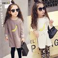 2017 Fashion Children's Clothing Baby Girls T Shirt Spring Autumn Kids Tops & Tees Casual Banana Print Cotton Kids Costumes