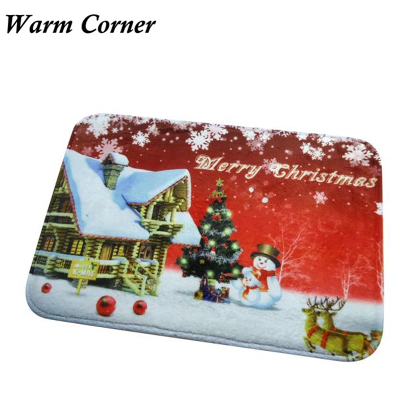 Warm Corner Lm Christmas Hd Printed Non Slip Bath Mat Absorbent Home Decor  Hot Doormat Anti