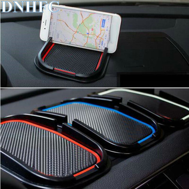 dnhfc car rubber phone mat gps support car accessories for audi a1 a3 a5 a7 a6 a8 q3 q5 q7 s3 s7. Black Bedroom Furniture Sets. Home Design Ideas
