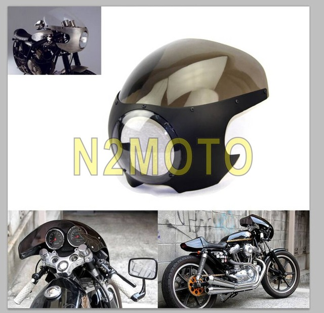 Matte Black Smoke Visor Streetfighter 5 3 4 Motorcycle Fairings Cafe Racer Chopper Custom