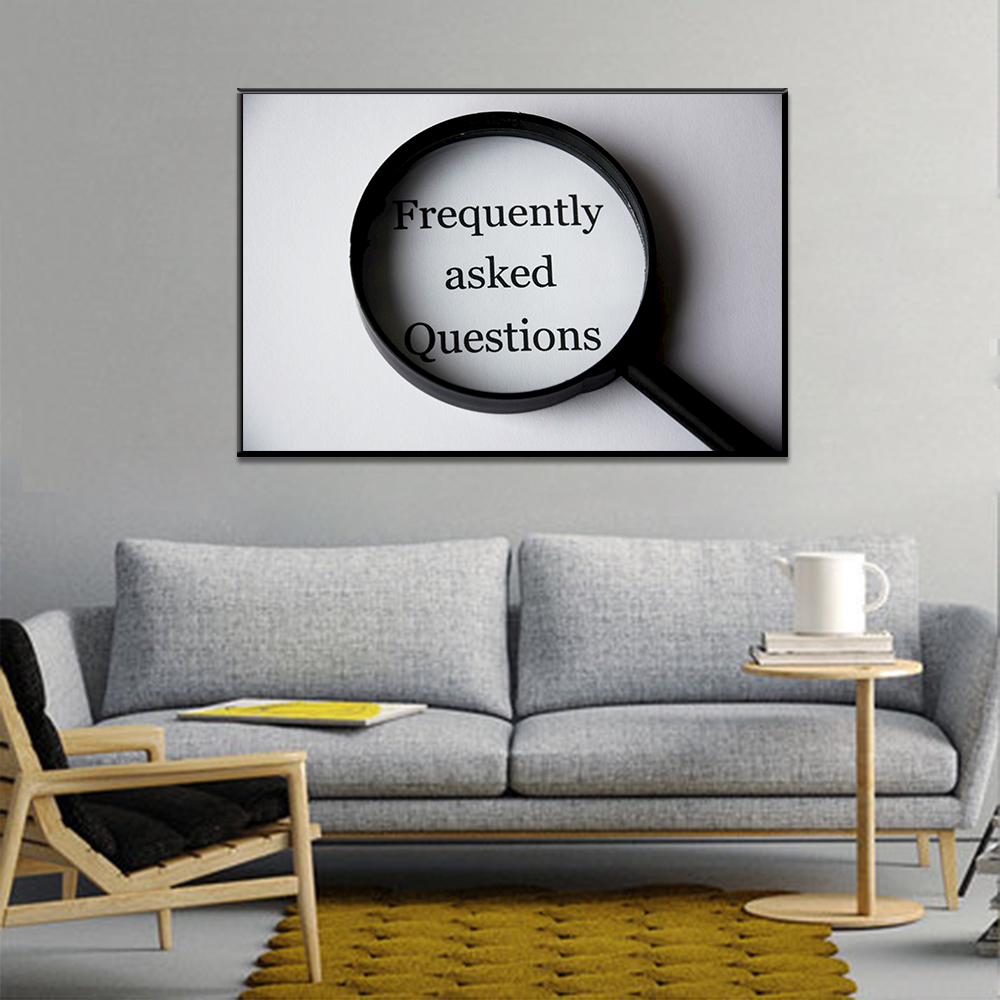 Unframed Canvas Saying Frequently Asked Questions Print Painting Posters Wall Picture For Living Room Home Decor Dropshipping