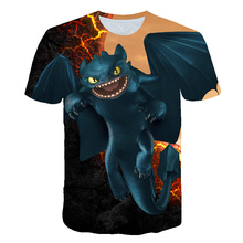 New Arrival 2019 Pocket Toothless T-shirt Men Cute Tops How To Train Your Dragon Cartoon Tees 3D T Shirt Summer Clothes Tshirt
