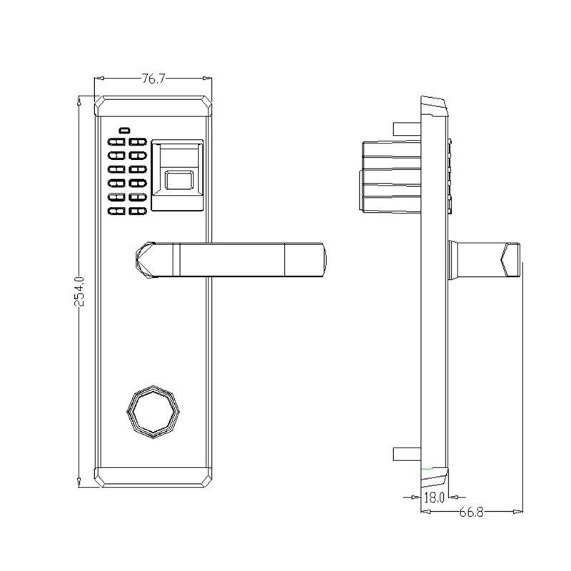 Купить с кэшбэком LACHCO Biometric Electronic Door Lock Fingerprint, Password, Mechanical Key Digital Code Keyless Lock Stainless Steel lk902FS
