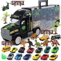 Children Toys Truck Hauler Dinosaur Model Funny Gadgets Novelty Interesting Toys For Boy Set with Cars Drop Ship