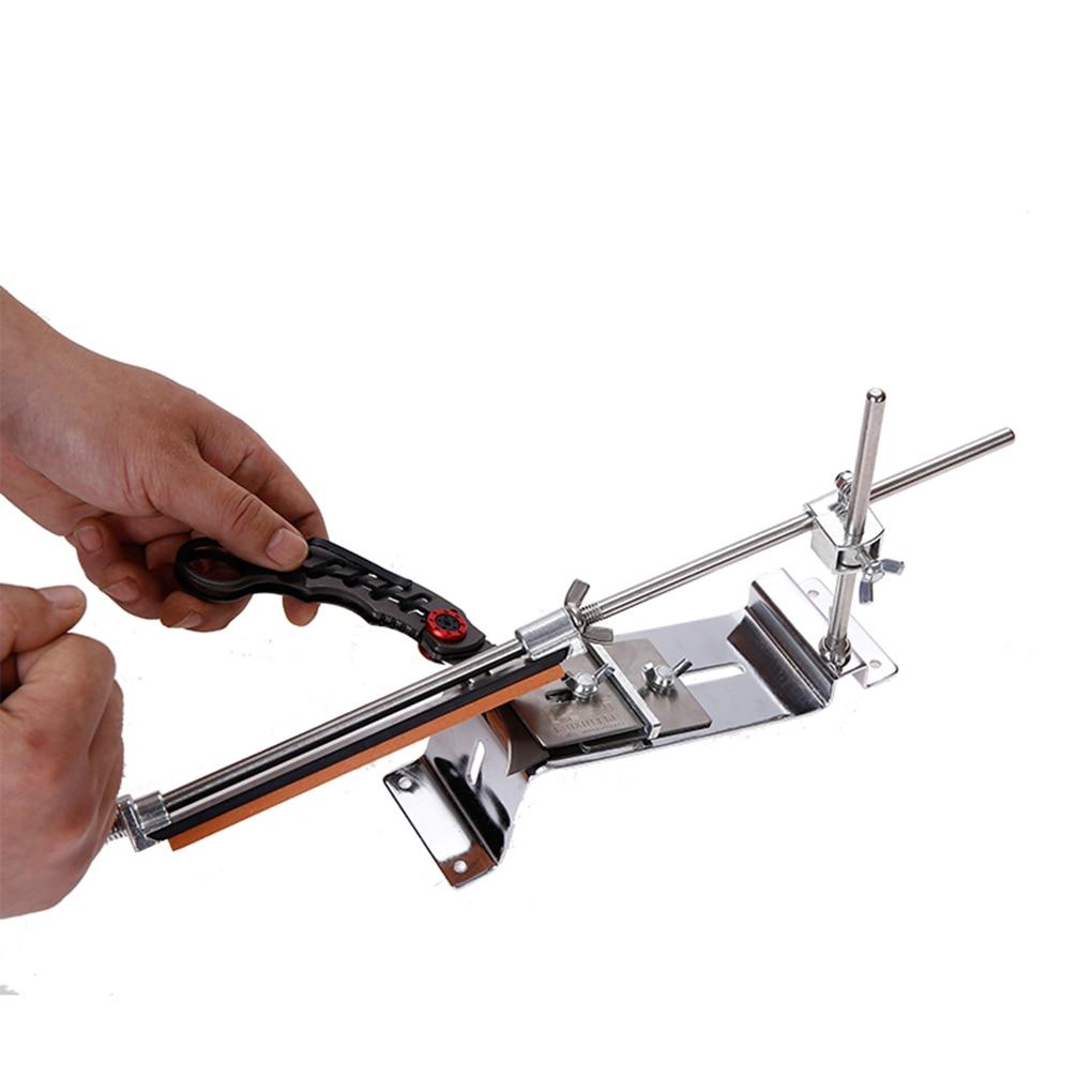 Affûteuse de couteau à Angle fixe pierre d'affûtage Angle 5-90 degrés pour ciseaux raboteuses 2 lames Whetstone avec 4 pierres