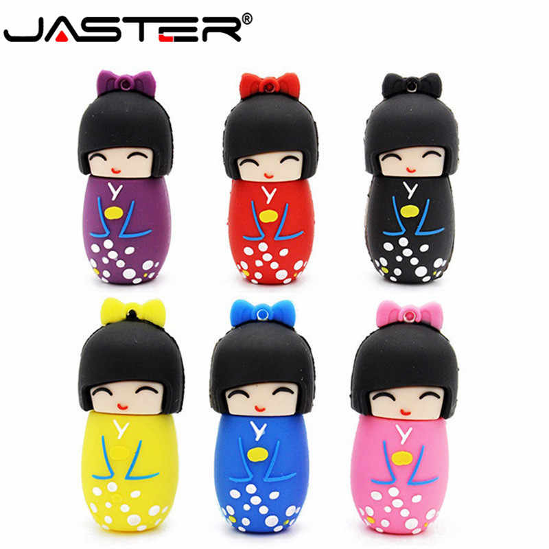 JASTER bonecas Japonesas Kimono menina usb 2.0 flash pen drive gb 8 4 gb gb gb 64 32 16 GB bonecas presentes disco flash usb memory stick