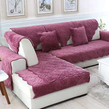 2019 Sofa Cover Towel Slipcover Plush Fabric Thick Modern Non-slip Couch Corner Mats 1PCS 6 Colors 11 Size