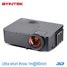 Newest Short throw lens Projector Daylight Home Theater USB HDMI 1080p full HD 3D DLP Proyector beamer for church hall hotel