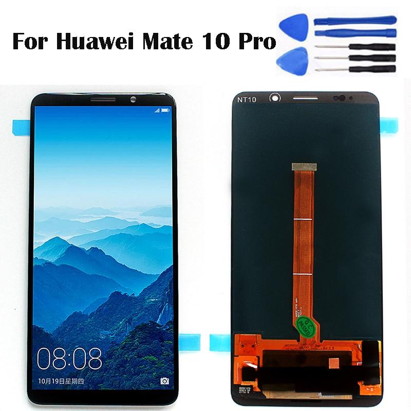 6,0 для huawei mate 10 Pro lcd 6,0 дюймов Дисплей для мобильного телефона lcd сенсорный экран дигитайзер Датчик сборка BLA L09 BLA L29 бесплатно