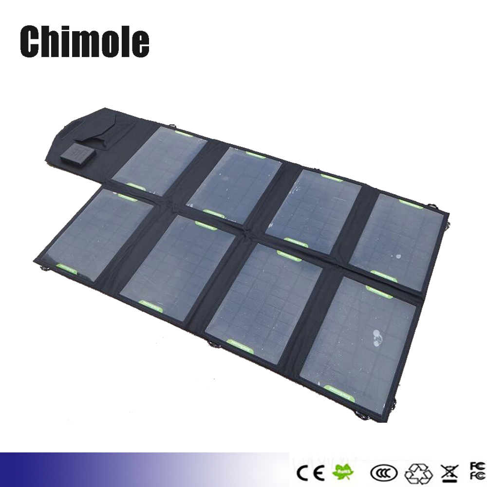 28W 18V Folding Foldable Solar Panel Sun Charger Bag, 5V & 18V Double Output Solar Mobile 12V Battery MP3/4 Camera PDA Charger