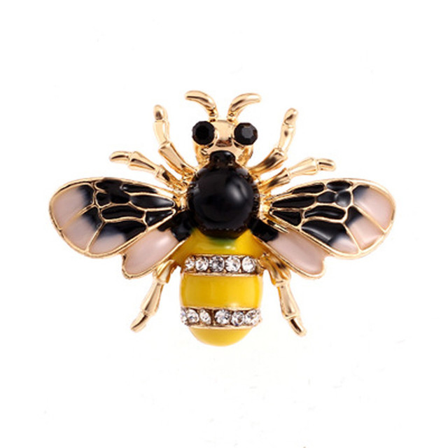 a437689880d Vintag Bee Brooches for Women Fashion Broche Insect Brooch Pin Antique Gold pearl  brooch Broszki High Quality summer gift 5NF