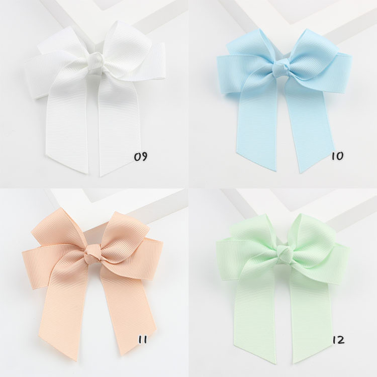 1psc Candy Color Cute Kids Baby Newborn Girls Ribbon Bow Hair Clips   Headwear   small Bowknot Photography Props Hair Accessories