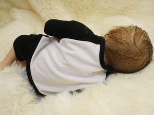 Image 2 - OtardDolls Bebe Reborn Puppen 18 zoll Reborn Baby Puppe Weichen Vinyl Silicon Newborn Puppe bonecas Panda Kleidung Für Kinder Geschenke