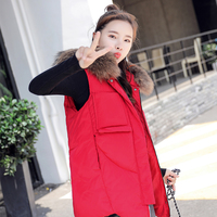 Deodar 2018 New Ladies autumn and winter women cotton vest white duck down soft warm waistcoat female outwear brand vest coat