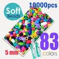 Suave 5mm hama cuentas 83 colores 10000 piezas (1 plantilla grande + Hierro 5 Papeles + 2 pinzas) fusible/perler cuentas diy juguetes educativos artesanía