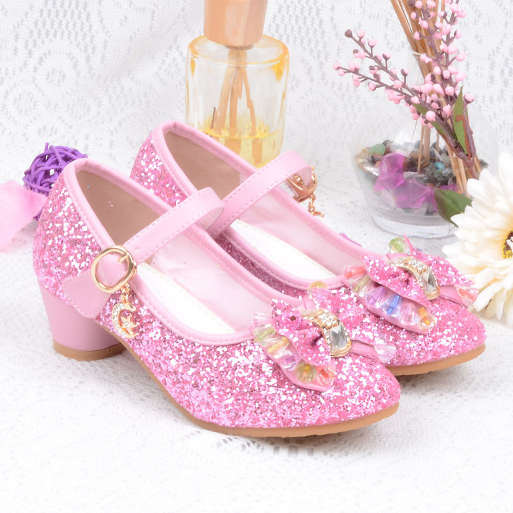 Infant Kids Baby Girls Pearl Crystal Bling Bowknot Single Princess Shoes Sandals Diamond Decoration Shoes Dance Party Shoes 2019