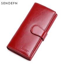 Sendefn новый дизайн кошелек из спилка женский длинный модный
