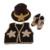 Foto Del Bebé recién nacido accesorios de Fotografía Diseño Chaleco Vaquero Zapatos Conjunto Infantil Del Ganchillo Del Knit Beanie Cap Vestuario Outfit H186