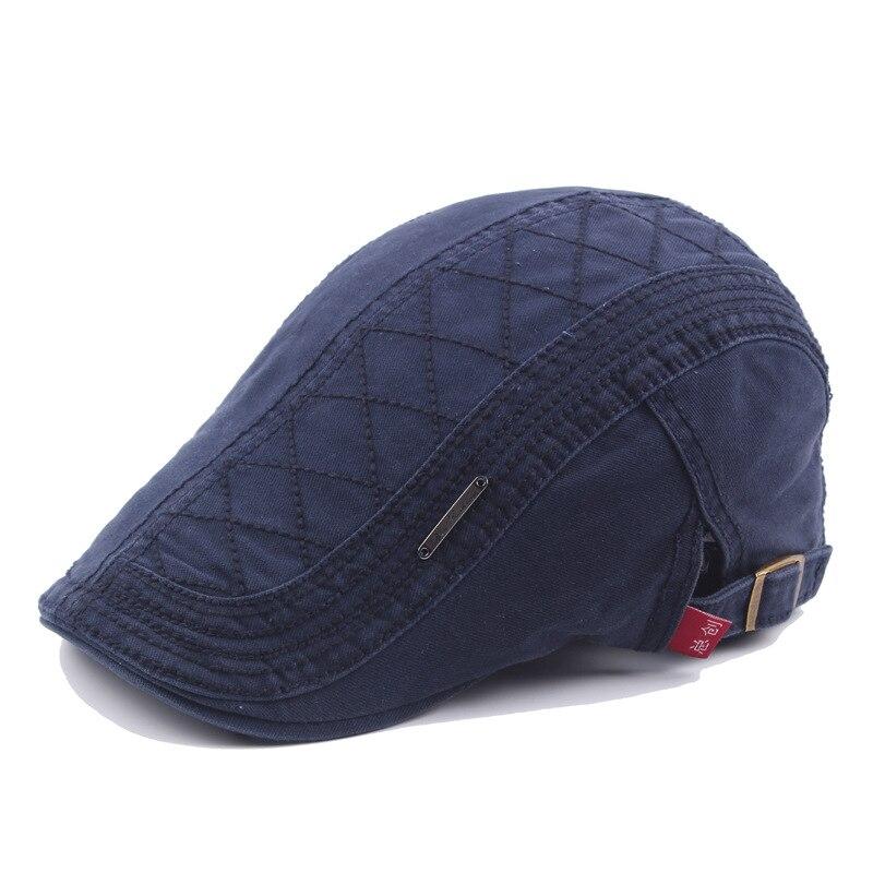 Мужской Хлопковый сетчатый берет с вышивкой Newsboys Duckbill Кепка Gorras Planas Плоские береты Ivy Cabbie Кепка s Регулируемая винтажная шапка|flat beret|duckbill capcabbie cap | АлиЭкспресс