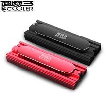 Pccooler B11 M.2 HDD, система охлаждения для твердотельного накопителя, твердотельный накопитель радиатор, Медь трубки охлаждения, черный, красный