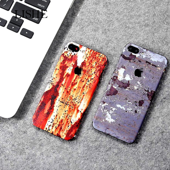 Personalized Newest Rust Spot Pattern Colorful Protective Film Sticker For iPhone 6 6S X 7 8 Plus Back Cover Glue Skin PVC Decal