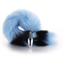 Fox Tail Cosplay Flirting Anal Toys  Sex Adult Accessories Metal Plug Long Toy Animal Role Play