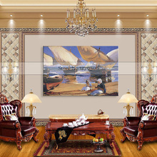 Canvas painting Colourful Leaf Trees Painting Wall Art Spray Home Decor paintings for living room wall