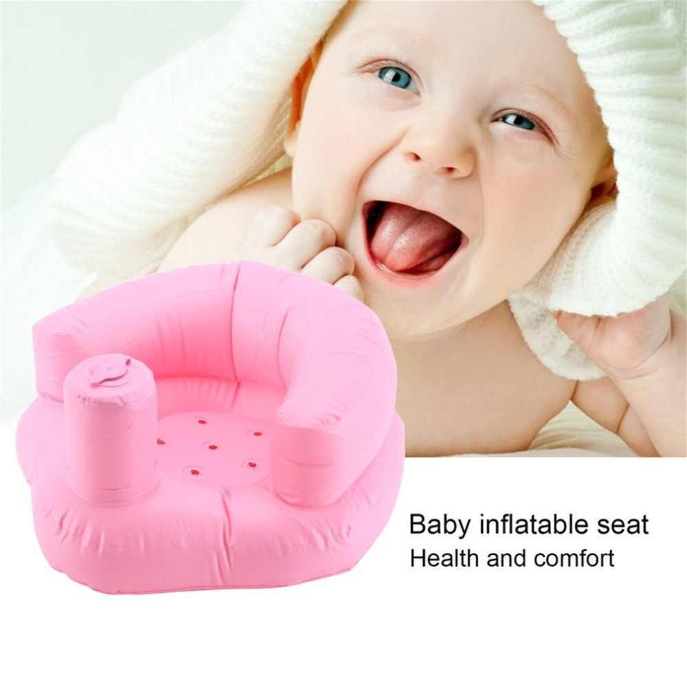 Crianças Assento Do Bebê Sofá Inflável Cadeira de Jantar Cadeiras De Banho Carrinho de Bebé Rosa Verde PVC Portátil Infantil Esteira Do Jogo Jogo Sofás Aprender fezes