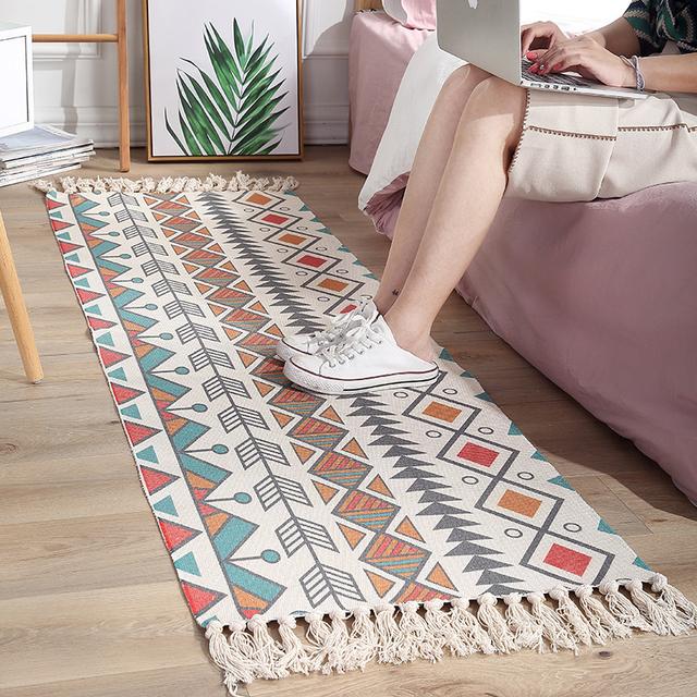 Bohemian Living Room Floor Mat