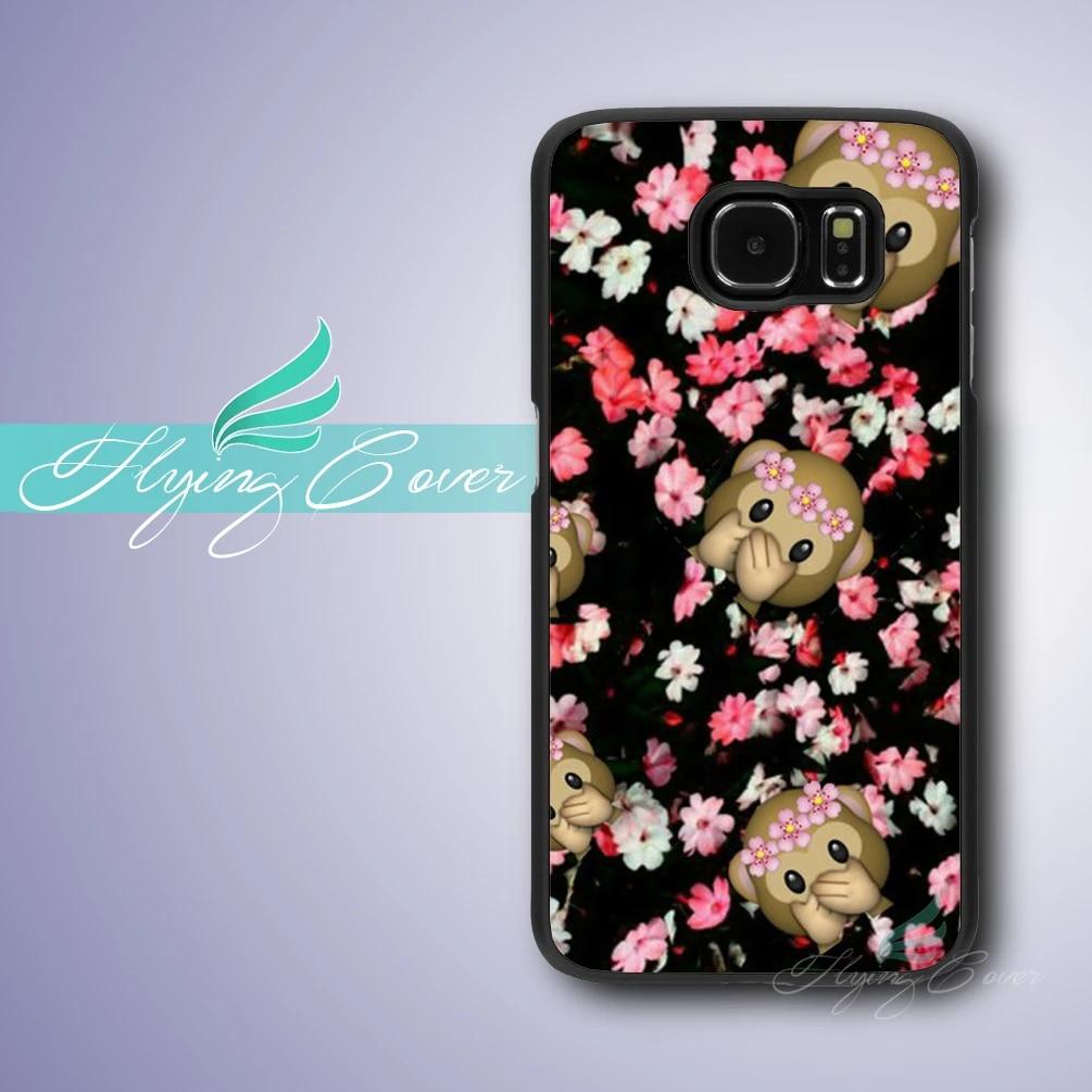 Coque Cartoon Emoji Monkey Case for Samsung Galaxy S3 S4 S5 S6 S7 Active Mini Case for Samsung Galaxy Grand Prime Case.
