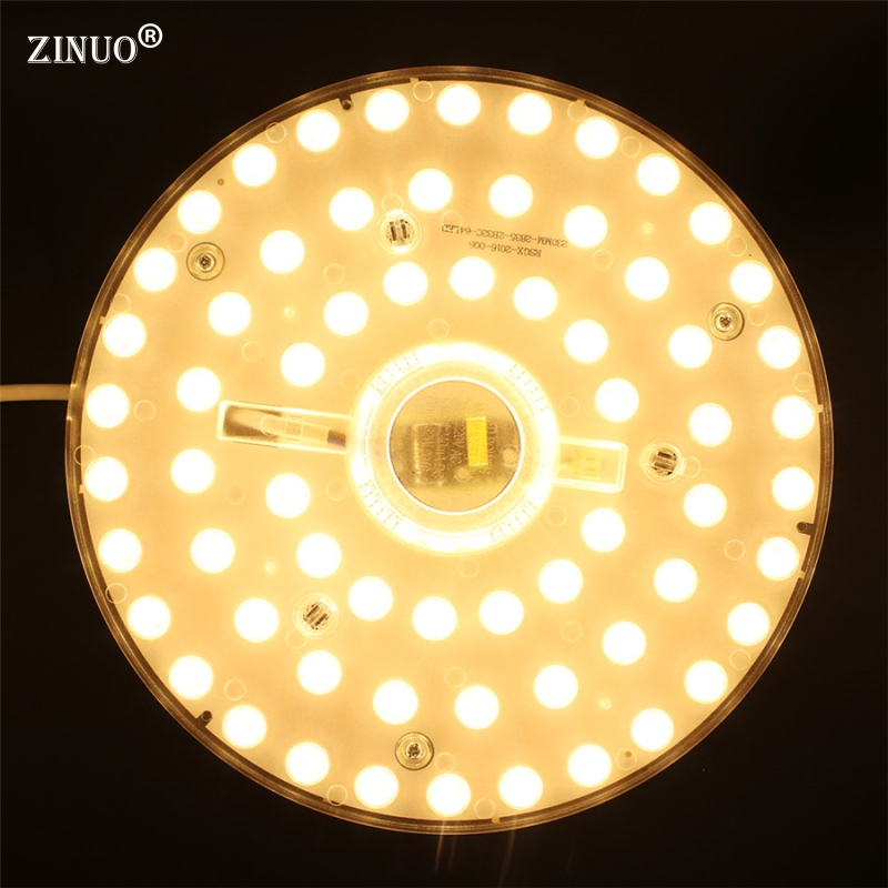 32W LED Ceiling Light Round Shape Replace Plate Panel Board SMD2835 LED Module Magnetic Lamp Plate With Magnet Screw Driver 28w x2 smd 5730 ceiling light pcb retrofit magnet board led ring light panel remoulding plate with driver and magnet screw