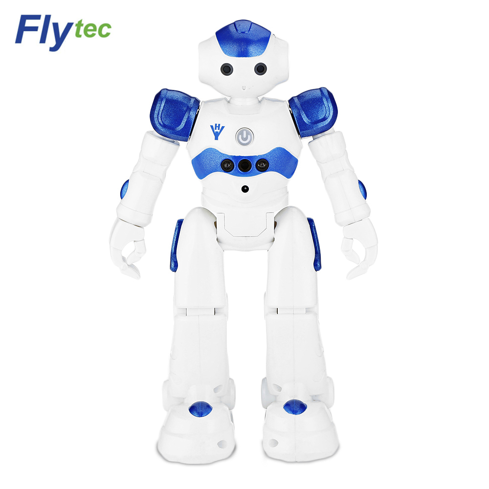 2017 Flytec FQ4005 Obstacle Avoidance Movement Programming Gesture Control Intelligent RC Robot for kids Christmas Birthdaygifts jjrc r3 rc robot toys intelligent programming dancing gesture sensor control for children kids f22483 f22483