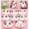 Nuevo Llegado 10 cm Panda Jumbo Kawaii Encantos Blandos Bollos de Pan Tecla Del Teléfono Celular/Correa Del Bolso Colgante Aplasta 3.5mm del Enchufe del polvo
