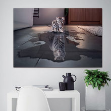 Newest Island 1 Panel Decorations Modern Canvas Prints Artwork Cat and Tiger Pictures Paintings Canvas Wall Art Painting Decor(China)