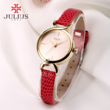 Women Julius Crocodile Leather Fashion Watch 5 Colors Quartz Ladies Dress Watches Female Clock Analog Quartz Japan Hour JA-694