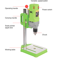 Electric bench drill 710W Mini drill Press Variable Speed 1 13mm drilling For DIY Wood Metal Electric Tools 220V