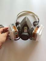Good Quality 6200 Respirator Gas Mask Set 2pcs Filter Boxes 20pcs Filter Cotton Chemical Respirator Painting