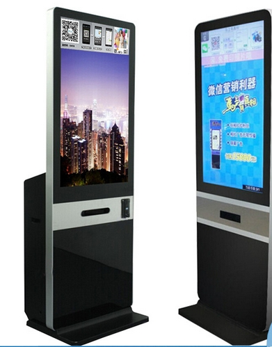 21.5 24 32 42 Inch Touch Lcd Tft Hd Pc Wechat Whatsapp Payment Signage Totem Photo Taking Booth Terminal Kiosk With Printer