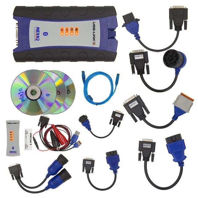 2016 Mais Novo de Alta Qualidade Nexiq USB Ligação Auto Heavy Duty Truck Nexiq 2 Função Do Bluetooth Ferramenta de Diagnóstico USB Ligação