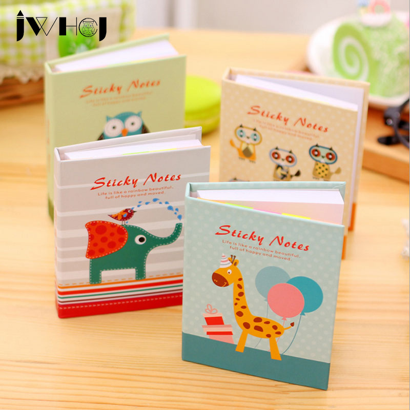 1 pcs creative animal hardcover memo pad post notepad sticky notes stationery diary notebook office school supplies