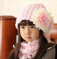 2017 Cute Crown Winter Baby Toddler Kids Boys Girls Knitted Eool Scarf Cap Set Crochet Beanie